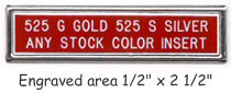 Metal frame tag - Gold or silver frame