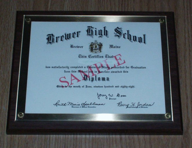 What a great way to display your diploma!