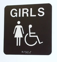 ADA restroom signs to your specifications