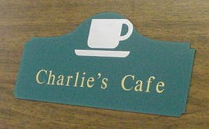 Wall sign with raised lettering